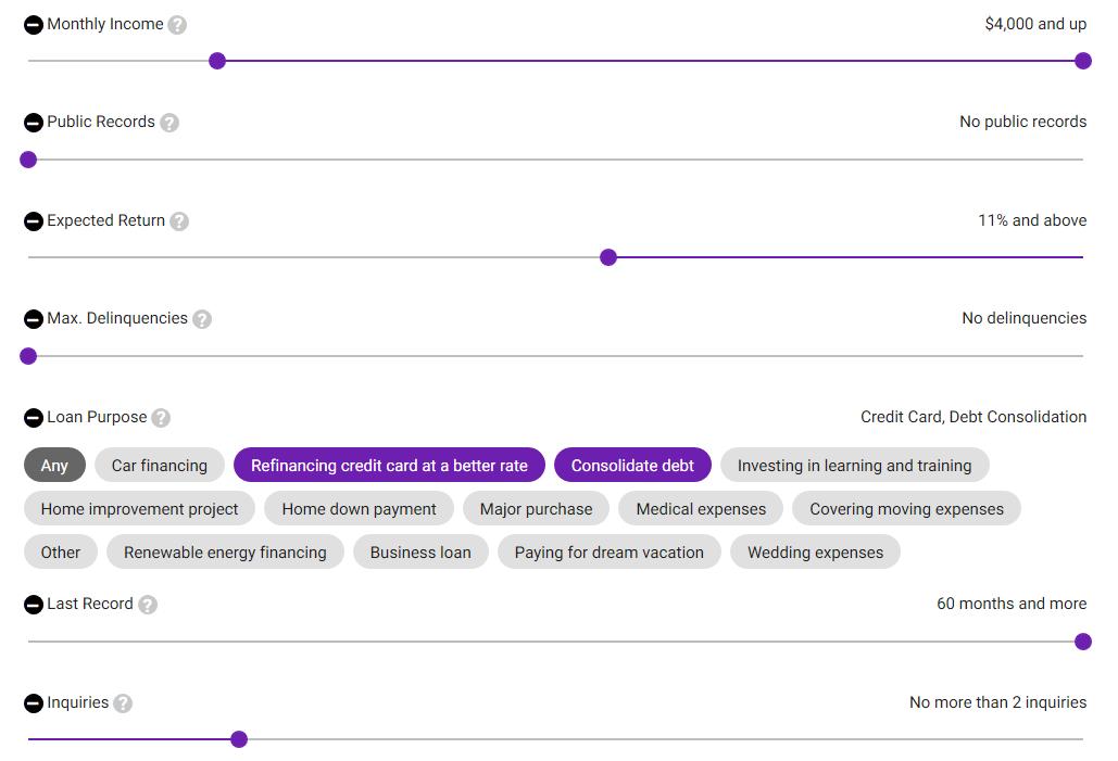 LendingRobot Review open criteria
