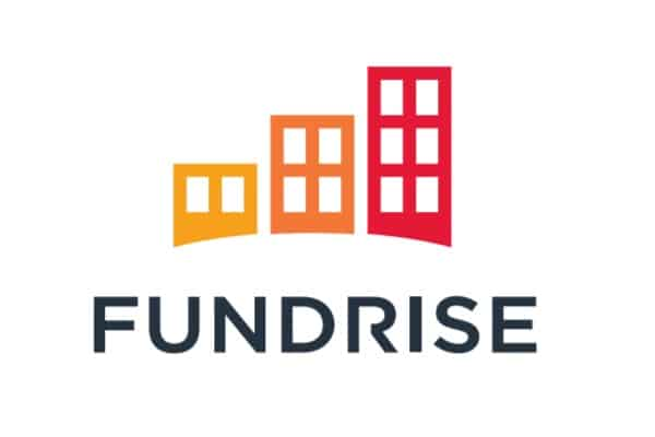 Fundrise Review: Logo. Learn how to earn passive income from real estate crowdfunding.