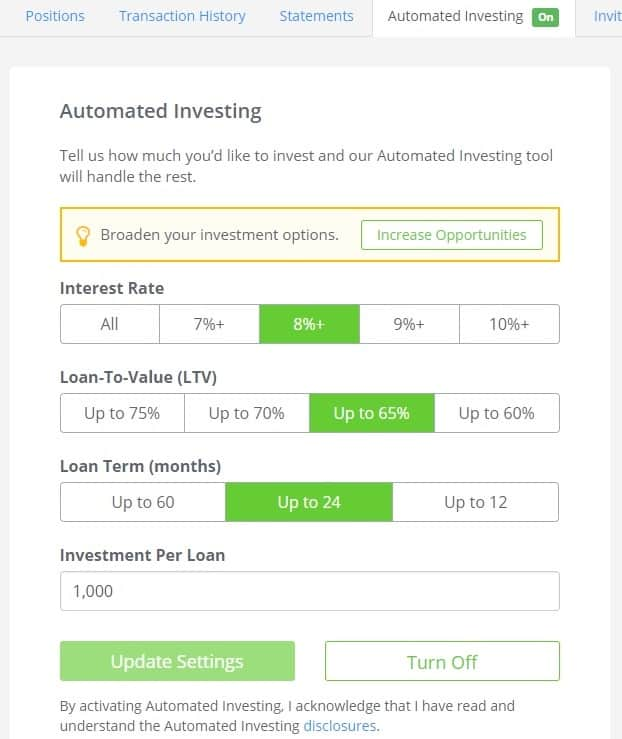 peerstreet review automated investing