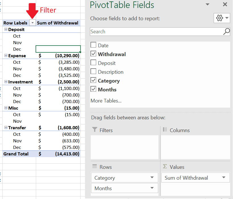 Here's How I Track Spending in Excel Using Pivot Tables