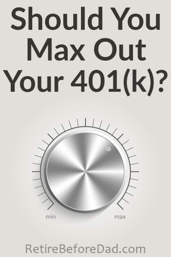 Is it smart to max out your 401(k) every year even if your salary is low? This isn't easy for most, but you may regret not contributing the max later in life.