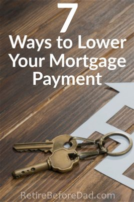 Owning a home with a mortgage makes it more difficult to reach financial freedom. Here are 7 ways to lower your mortgage payment and build more freedom in your life.