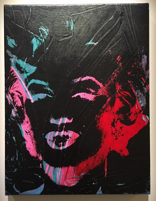 Masterworks review: 1 Colored Marilyn (Reversal Series), 1979, Oil and silkscreen inks on canvas front side