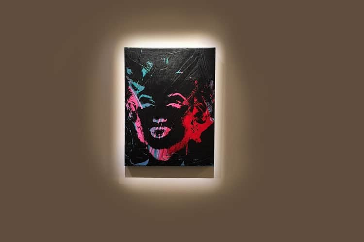 masterworks review: Marilyn Monroe painting on canvas by Andy Warhol