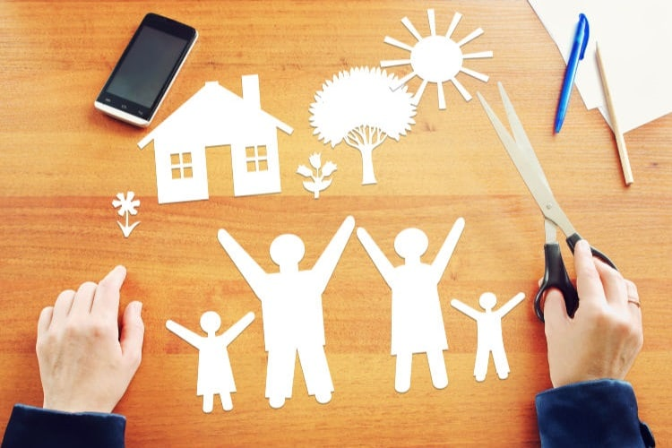Featured photo of a paper cut-out family and a pair of scissors. Parents tend to procrastinate when it comes to doing an estate plan, even though it's a critical financial planning tool. But is it worse than a vasectomy?