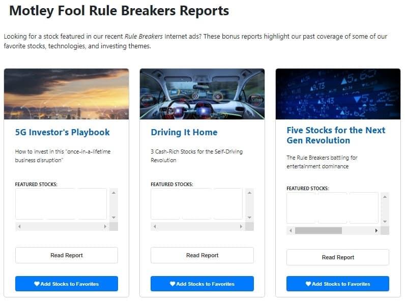 Rule Breakers Reports screenshot